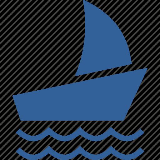 beach, boat, holiday, sail, sea, ship, summer icon