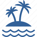 coconut, island, nature, palm, sea, summer, trees icon