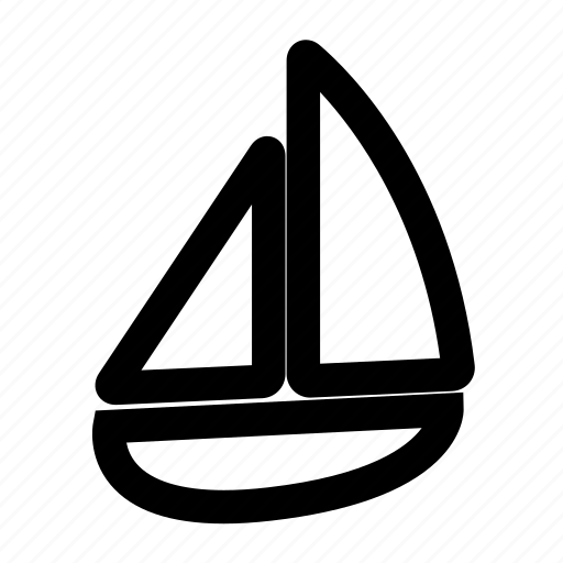 sail boat, summer icon