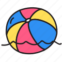 ball, play, sea, summer, swim, water icon