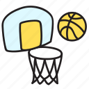 ball, basketball, game, play, summer icon