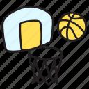 ball, basketball, game, play, summer
