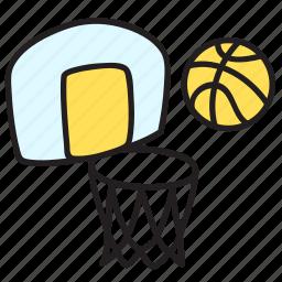 ball, basketball, game, play, summer icon