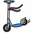 fun, happy, scooter, speed, summer icon