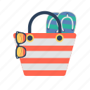 bag, beach, beach bag, summer, summer bag, tote bag icon