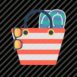 bag, beach, beach bag, summer, summer bag, tote bag icon