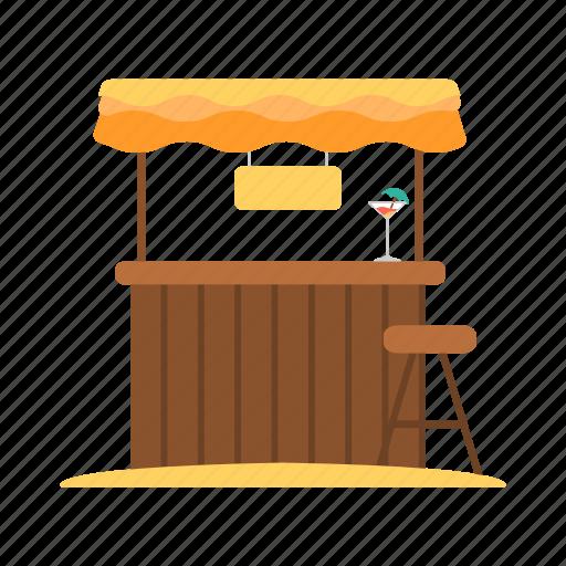 bar, beach, beach bar, drink bar, travel icon