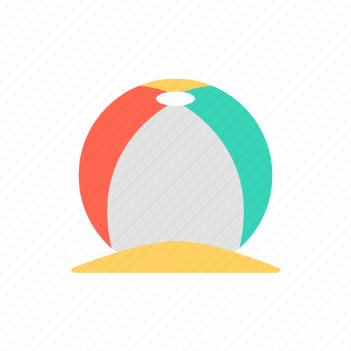 ball, beach, beachball, summer, travel icon