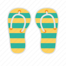 beachwear, flipflop, footwear, sandal, slippers, travel icon