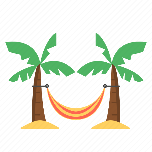 beach hammock, bed, hammock, travel, travel hammock icon