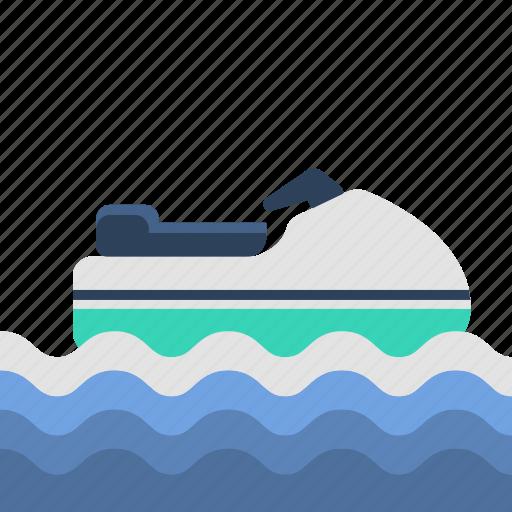 jetski, sea-doo, travel, watercraft icon