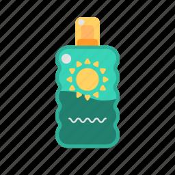 cream, lotion, sun block, suncream, sunscreen, travel icon