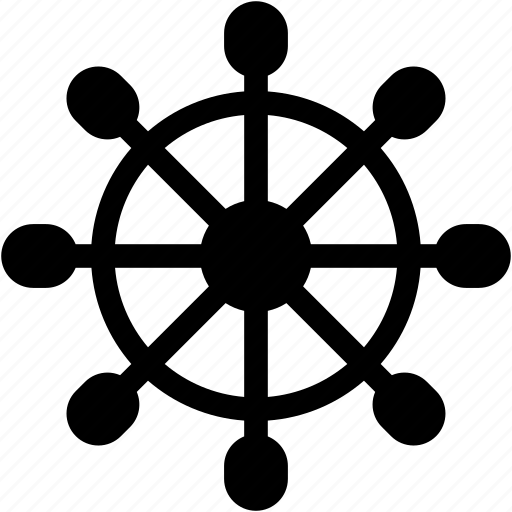 directions, navigation, sail, wheel icon