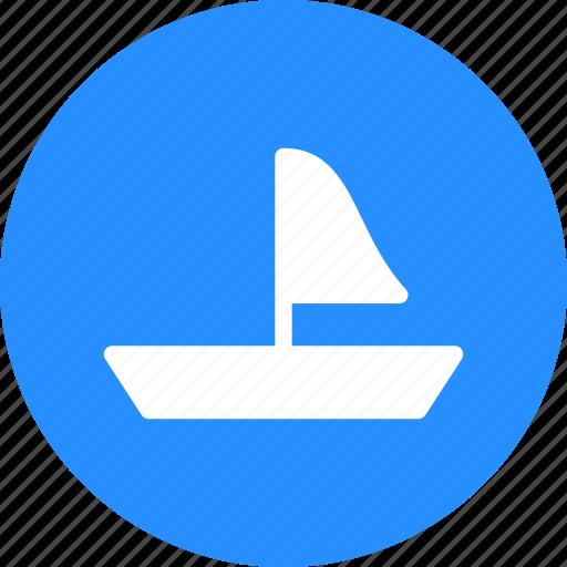 boat, sailboat, sea, surf icon