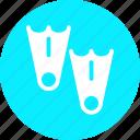 diving, fins, scuba, scuba diving, swimfins icon
