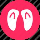 flip flop, flipflop, footsteps, summer icon