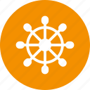 boat, directions, navigation, wheel icon