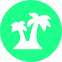 beach, coast, palm, trees icon
