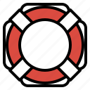 beach, lifeguard, ring, rubber, safe, security icon