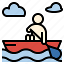 activity, adventure, boat, canoeing, river, summer, trip icon