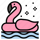 beach, flamingo, float, pool, sea, summer, swim icon