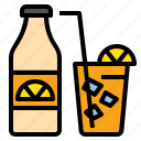 drink, fresh, juice, lemon, nade, orange, summer