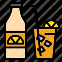 drink, fresh, juice, lemon, nade, orange, summer icon