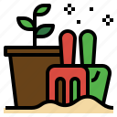 flower, garden, grow, plantation, planting, seed, summer icon
