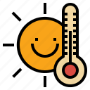 day, hot, summer, sun, sunny, sunshine, temperature icon