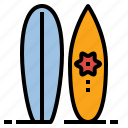 activity, beach, sport, summer, surfboard, surfing icon