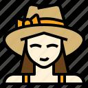 holiday, tourist, travel, woman icon