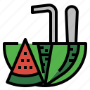 beach, drink, fresh, fruit, summer, vacation, watermelon icon