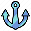 anchor, sign, tool icon