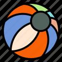 ball, beach, fun, summer icon