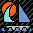 boat, sailboat, sailing, transport icon