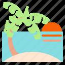 beach, nature, palm, summer icon