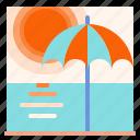 beach, holidays, summer, sun, umbrella icon