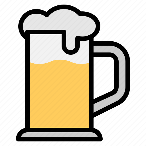 alcohol, beer, booze, cool, drink, glass, mug icon