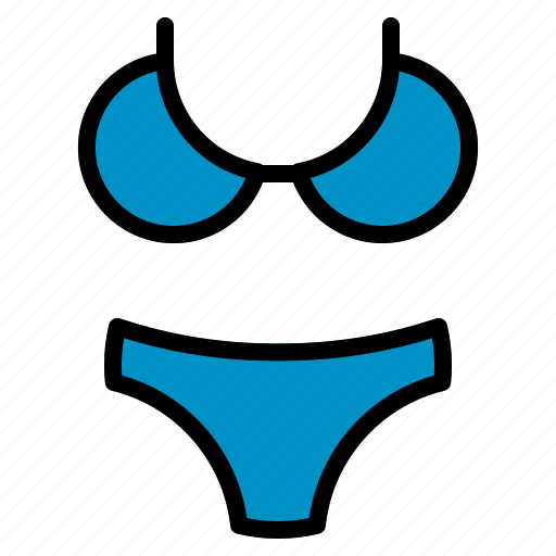Beach, bikini, summer, swimsuit, vacation, women icon - Download on Iconfinder