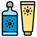 beach, cream, lotion, protection, sun, sunblock, sunscreen icon