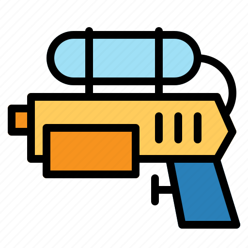 game, gun, pistol, plastic, play, toy, water icon