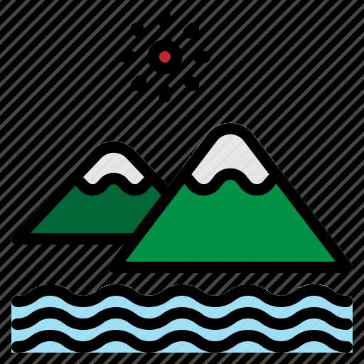 altitude, climb, landscape, mountain, nature, summer, vacation icon