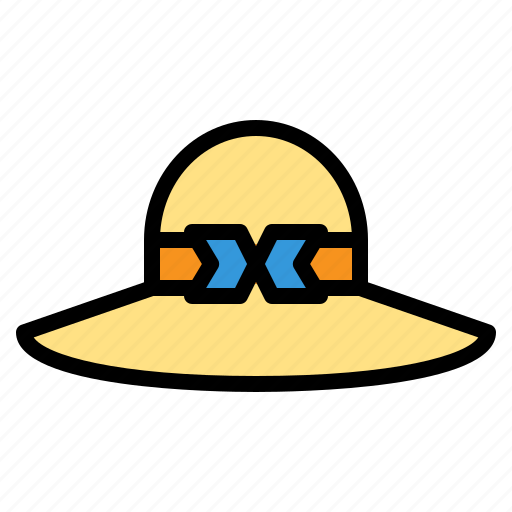 beach, hat, pamela, straw, summer, travel, vacation icon
