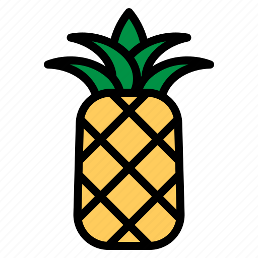 ananas, fresh, fruit, natural, pineapple, summer, tropical icon