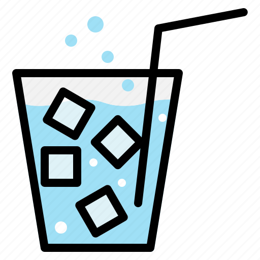 beverage, cold, drink, glass, ice, soda, thirst icon