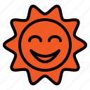 day, summer, sun, sunny, sunrise, weather icon