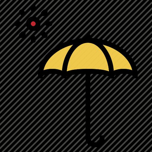 hot, summer, sun, umbrella, uv, weather icon