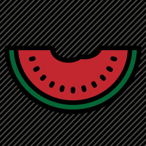 food, fresh, fruit, slice, summer, sweet, watermelon icon