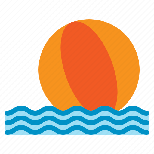 ball, beach, recreation, sea, summer, vacation, wave icon
