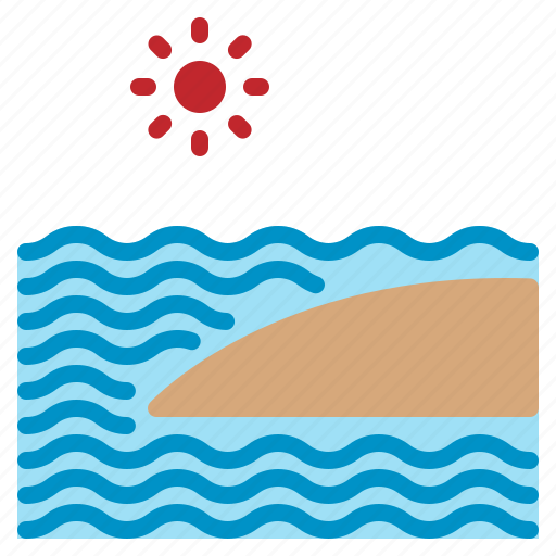 beach, relax, sand, sea, summer, sun, wave icon
